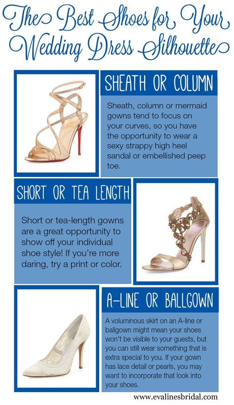 The Best Shoes For Your Wedding Dress Silhouette