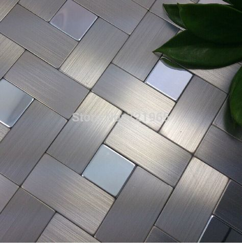 find more mosaics information about brushed silver metal