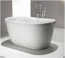 Lovely Small Soaker Tub....Floriello Acrylic Modern Bathtub 51   NEW DESIGN! Part 31