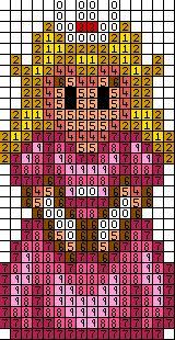 Princess Peach Cross Stitch Pattern Modern Cross Stitch