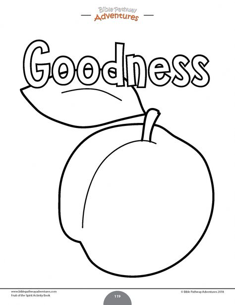 - Goodness (Fruit Of The Spirit) Coloring Page For Kids From Our Printable  Fruit Of The Spirit Activity Book Instant Download! … Fruit Of The  Spirit, Book Activities, Bible For Kids