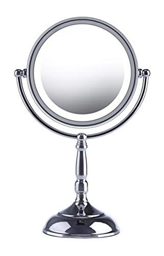 Led Makeup Mirror 8 Inch Lighted Vanity Mirror 1x 7x Magnifying Double Sided Cordless Rechargeable Battery Incl Led Makeup Mirror Makeup Mirror Led Mirror