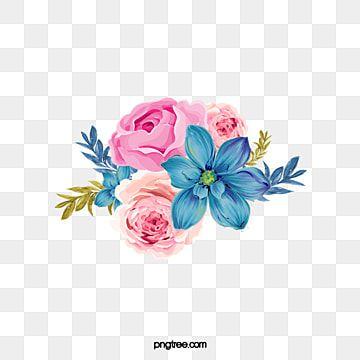 زهور زهري زهور أزرق Png وملف Psd للتحميل مجانا Vector Flowers Blue Flower Png Flower Png Images