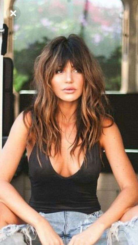 This will b my new look...sexy messy long bobb with bangs...my bang will be a clip in since I always regret bangs😁