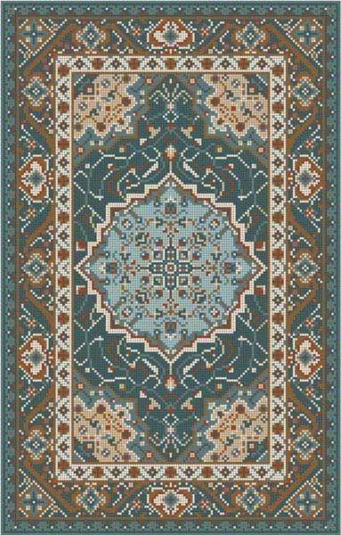 Pin By Christine Halweg On Etc Oriental Rug Patterns Dollhouse Rug Cross Stitch Patterns
