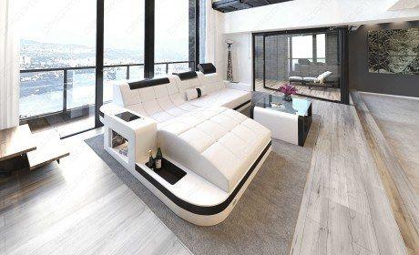 Luxury Sectional Sofa Jacksonville L Shape Led Leather Sectional Sofa With Led Rgb Lights Sofa Furniture Furniture Sofa Design