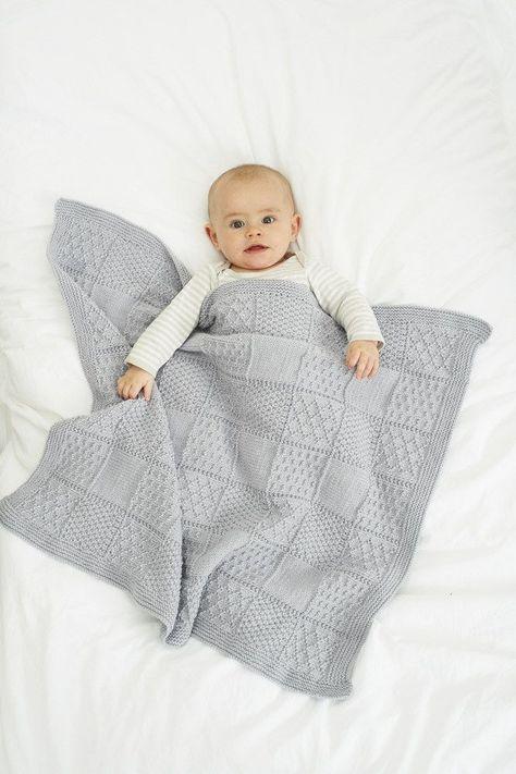 cool Knitting Baby Blanket