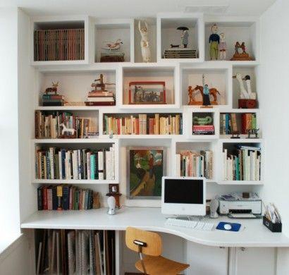 Sparen Sie Platz Wie Sie Regale Und Schreibtisch Richtig Kombinieren Dekoration Schreibtisch Bauen Regal Schreibtisch Regal