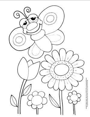 2319cb5977971621b95328e2c2da991d » Butterfly Flower Coloring Pages