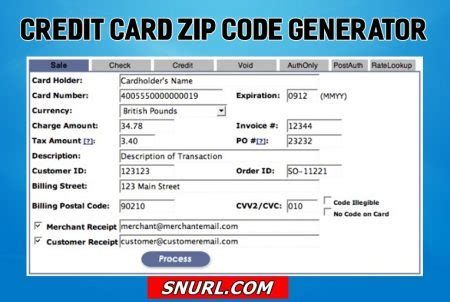 billing postal code on credit card