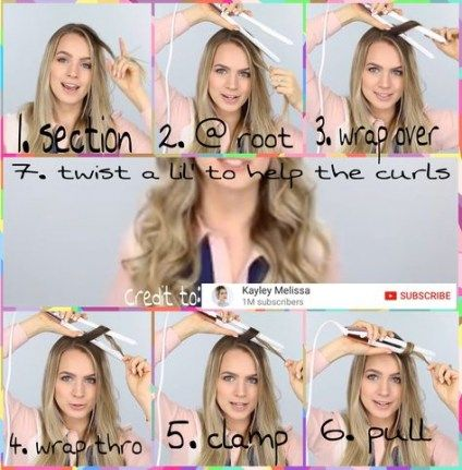 54 Ideas Hairstyles Messy Curls Flat Irons Flat Iron Curls Flat Iron Hair Styles Short Hair Diy