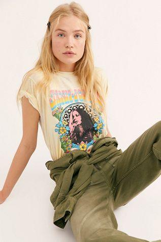 e062298bbb38 Janis Joplin Burnout Tee | Short Sleeve and Sleeveless Tops