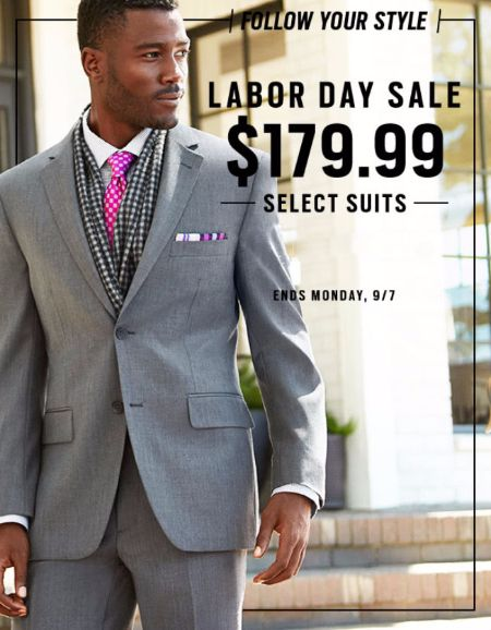 $179.99 Suits Labor Day Sale at Men's Wearhouse. | Lloyd Center ...