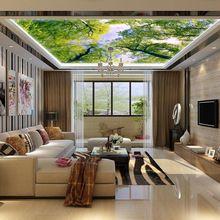 Erweitern Die Raum Tapete Wandbild Wohnzimmer Decke Fresko Esszimmer 3D  Großesu2026