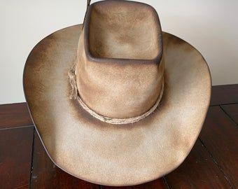 Historic Montana Peak Cowboy Hat Custom Fit Hand Blocked Etsy Cowboy Hats Custom Cowboy Hats Cowboy
