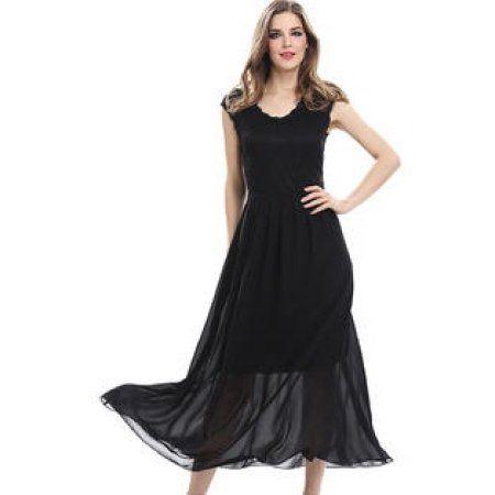 13dac7916dc Unomatch Women Designed Lace Floral Top Party Long Dress Black   laceweddingdresses