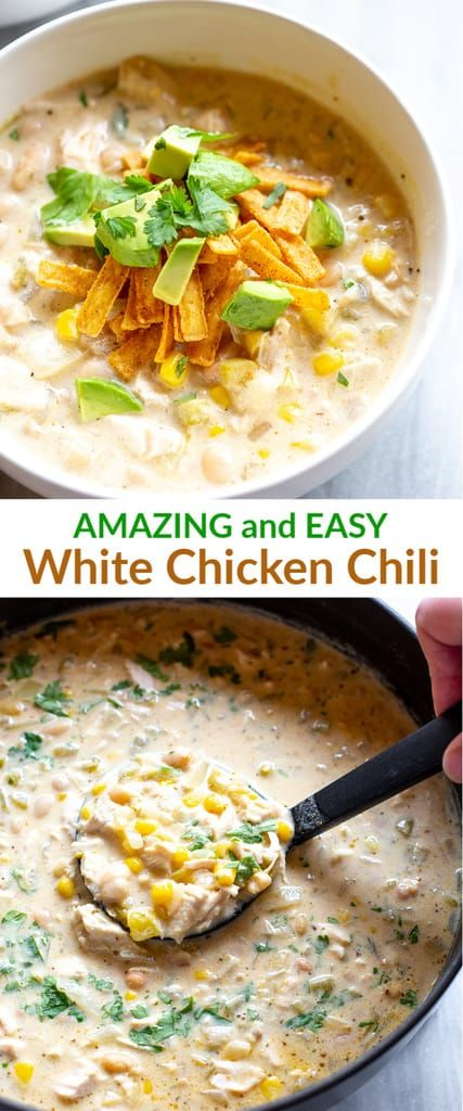 Creamy White Chicken Chili Recipe White Chicken Chili Slow Cooker White Chicken Chili Recipe Crockpot Slow Cooker Chicken Chili