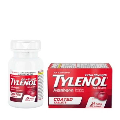Tylenol Extra Strength Coated Tablets Acetaminophen 24ct