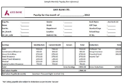 salary format in excel free download - Google Search Stuff to - payslip template download