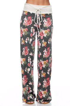 Adjustable Drawstring Waist Pajama Lounge Pants