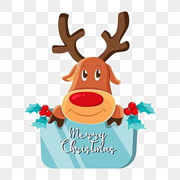 Merry Christmas Deer Congratulations New Year Christmas Xmas Deer Png And Vector With Transparent Background For Free Download Christmas Deer Christmas Vectors Merry Christmas