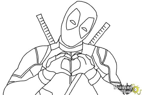 How To Draw Deadpool Step 8 In 2019 Superhero Sketches
