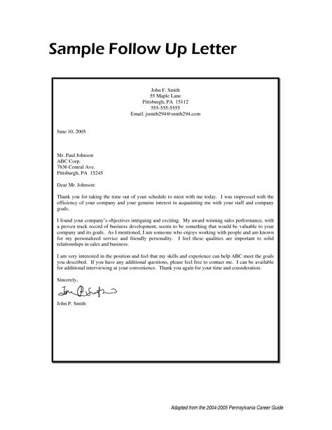sample follow email after sending resume mechanical maintenance - thank you follow up letter