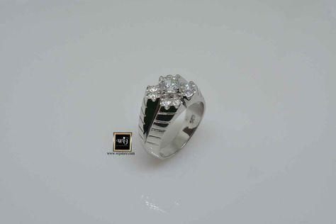 كود 779 خاتم فضة رجالى Sapphire Ring Diamond Rings