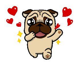 Pug Blowing Kisses Gif Cute Love Gif Dog Emoji Blowing Kisses