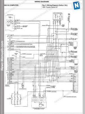 Caterpillar C15 On Highway Schematic 003255 Repair Manuals Toyota Celica Toyota