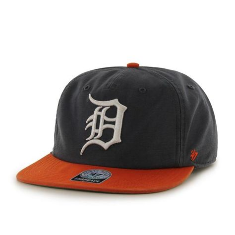 buy online 5d331 252cb Detroit Tigers Marvin Captain Rf Navy 47 Brand Adjustable Hat