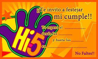 Hi5 Invitación De Cumpleaños Para Imprimir Invitaciones