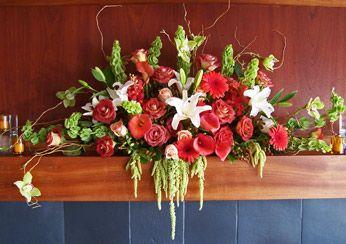 Wedding Flowers For Fireplace Mantel (Source: flowerart.biz ...