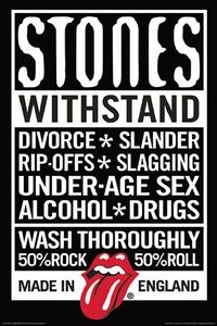 THE ROLLING STONES DECLARATION WALL POSTER