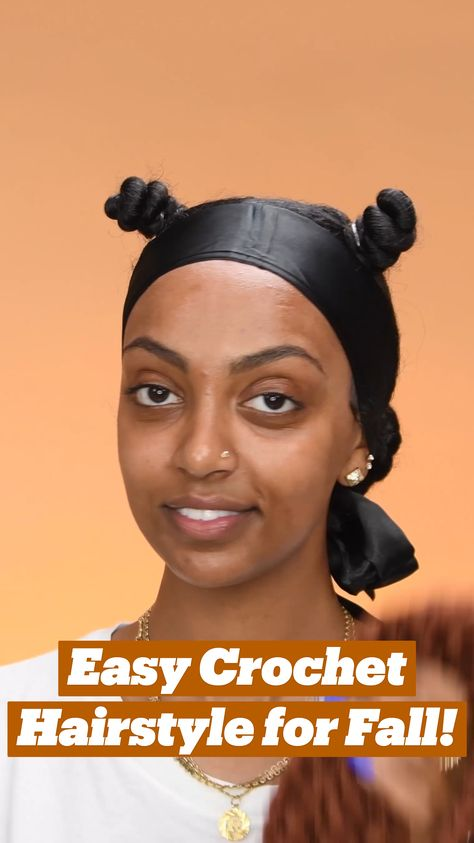 Easy Crochet Hairstyle for Fall!