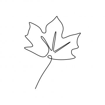 Single One Line Drawing Of Maple Leaves One Hand Drawn Lineart Design Isolated On White Background Symbol Drawing Illustration Png And Vector With Transparen Line Drawing Tree Line Drawing Symbol Drawing