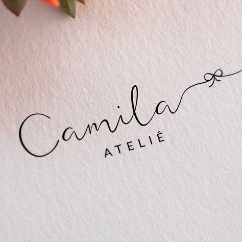 Logo | ateliê | logotipo | logomarca | identidade visual | branding | feminino