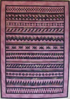 Seminole Sampler Quilt. There's a pattern for each month teaching you a new segment.