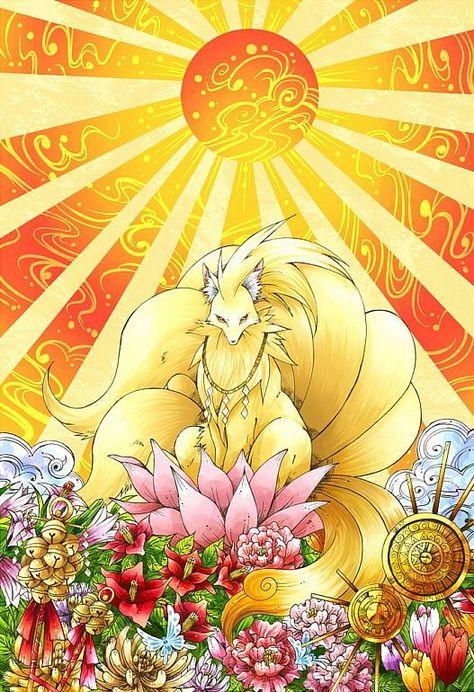 Ninetales ( Feunard) the Divine