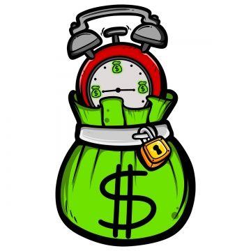 Money Bag And Alarm Clock Cartoon Art Artwork Illustration Png Transparent Clipart Image And Psd File For Free Download Swag Cartoon Money Design Art Cartoon Design