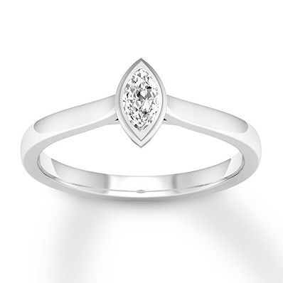 Diamond Solitaire Ring 1 5 Ct Bezel Set Marquise 14k White Gold Diamond Solitaire Rings White Gold Marquise Diamond Ring