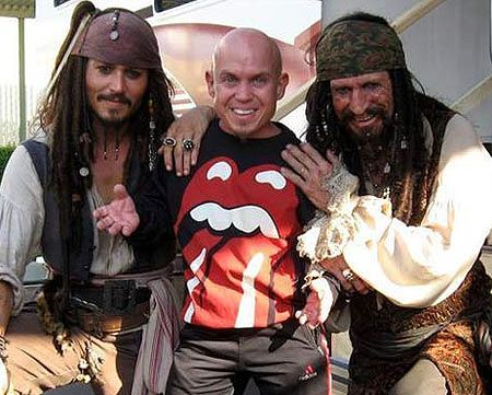 keith richards johnny depp pirates of the caribbean