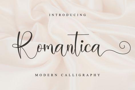 Romantica (Font) by NissaStudio · Creative Fabrica