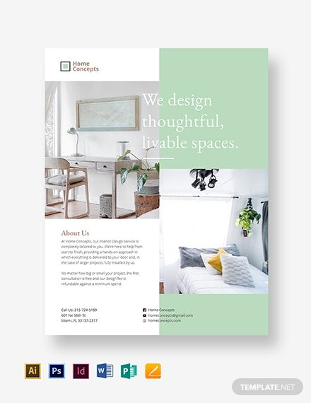 Interior Design Flyer With Images Flyer Design Layout