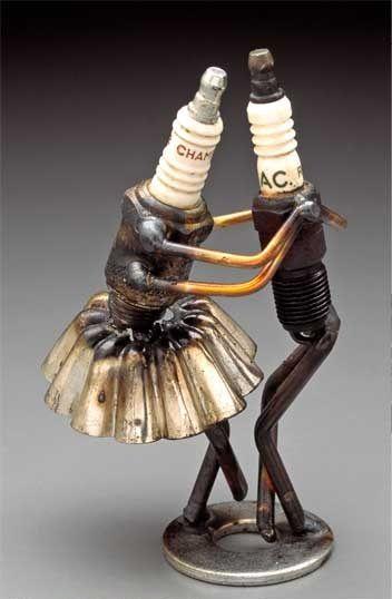 Dick Cooley AKA #Sparkplug Man - #Sculpture #art