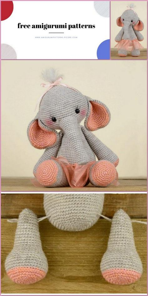Amigurumi Elephant Nina Free Crochet Pattern - Amigurumi Patterns Pic2re