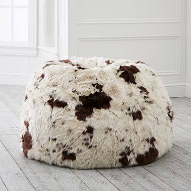 Excellent Pony Faux Fur Beanbag Slipcover Insert Large Furniture Beatyapartments Chair Design Images Beatyapartmentscom