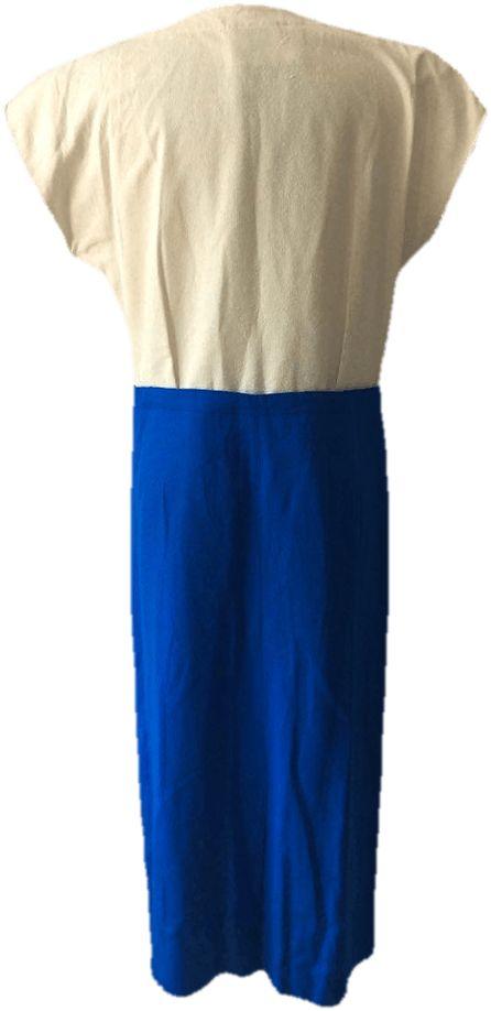 80's Raw Silk Dress
