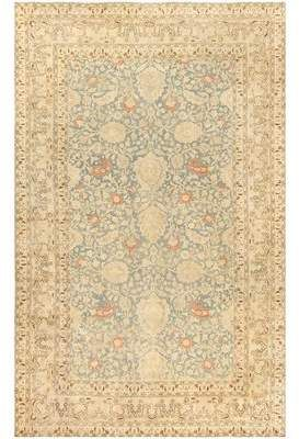 Nazmiyal Collection Persian Khorassan Antique Gold Beige Area Rug