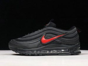 black air max 97 with red tick